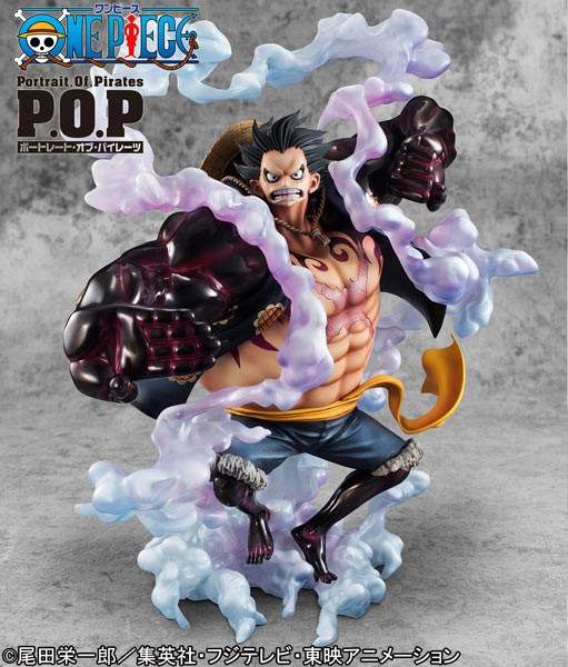 One Piece: P.O.P. Monkey D. Ruffy Gear 4 1/8 Scale PVC Statue