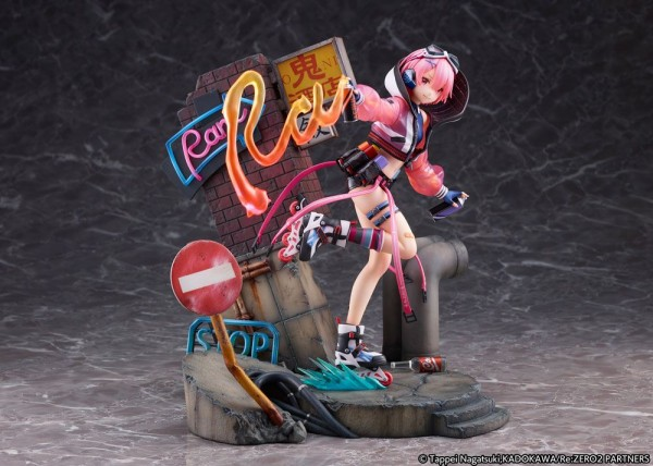 Re:ZERO -Starting Life in Another World: Ram Neon City Ver. 1/7 Scale PVC Statue