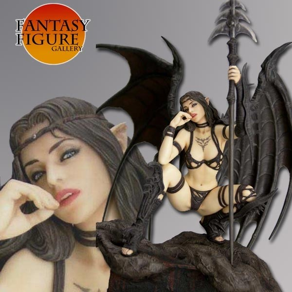 Fantasy Figure Gallery - Black Tinkerbell (Luis Royo) PVC Statue