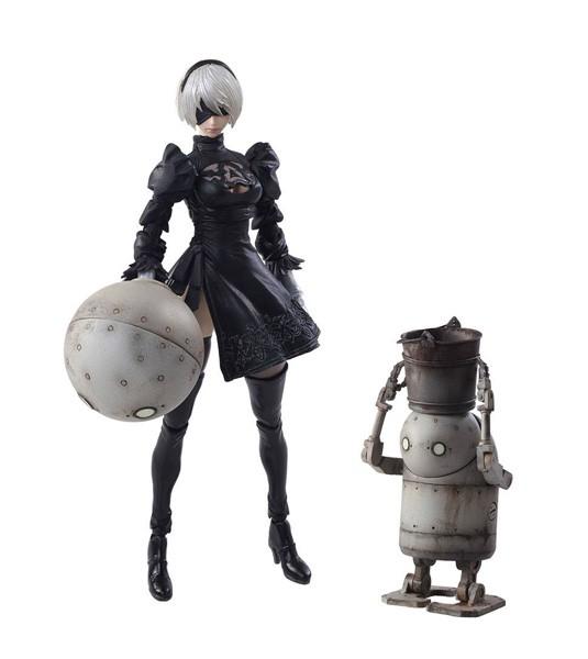 NieR Automata - 2B & Machine Lifeform Bring Arts Actionfiguren