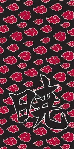 Naruto Towel - Akatsuki Clouds