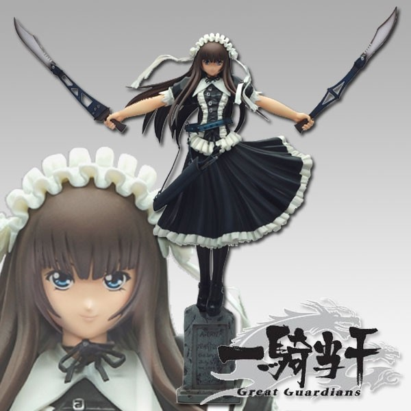 Ikki Tousen: Teni Battle Version DX Black 1/7 Scale PVC Statue