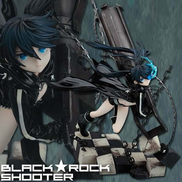 Black Rock Shooter: BRS Animation Ver. 1/8 Scale PVC Statue