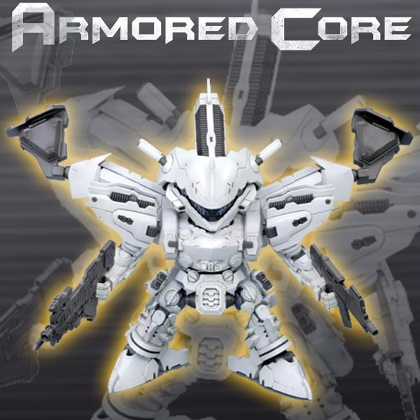 Armored Core - D-Style White Glint Model-Kit