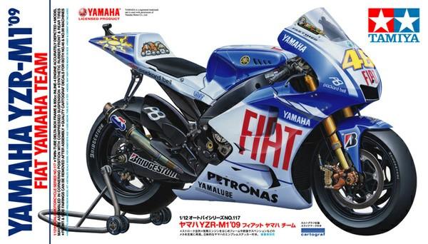 Yamaha YZR-M1 2009 Fiat Yamaha Team 1/12 Model Kit