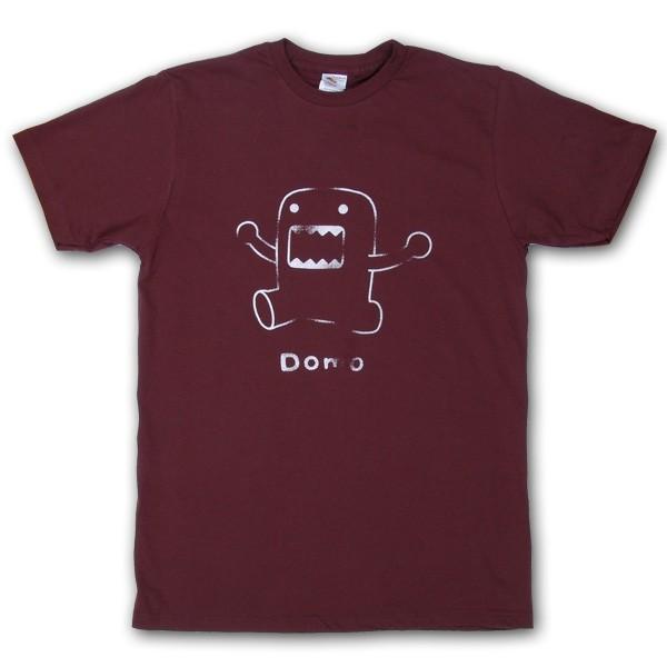 Domo-Kun: T-Shirt Line Art Brown