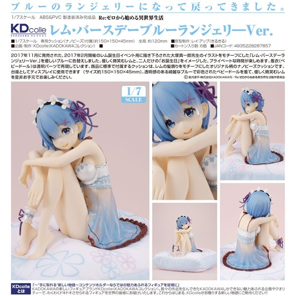 Re:ZERO -Starting Life in Another World: Rem Birthday Blue Lingerie Ver. 1/7 Scale PVC Statue
