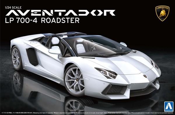Lamborghini Aventador LP700-4 Roadster 1/24 Model Kit