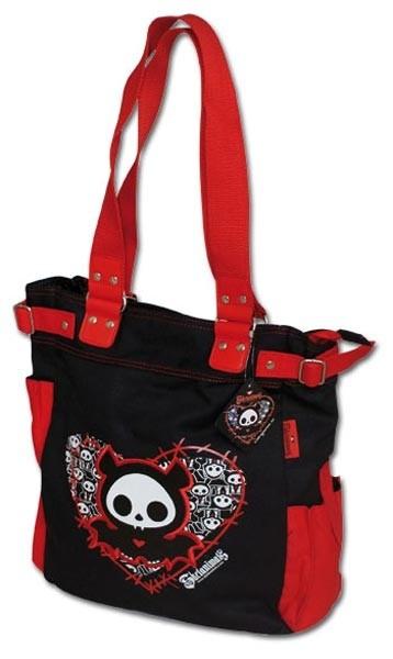 Skelanimals Shopping Bag black/red