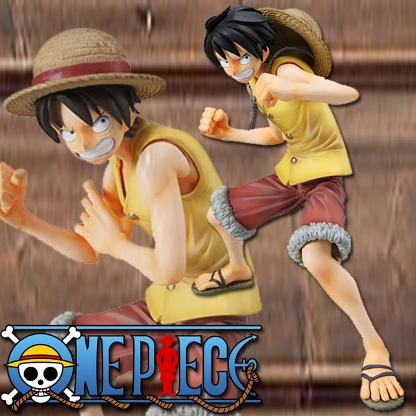 One Piece: P.O.P. Monkey D.Ruffy Marine Ford Ver. non-scale Scale PVC Statue