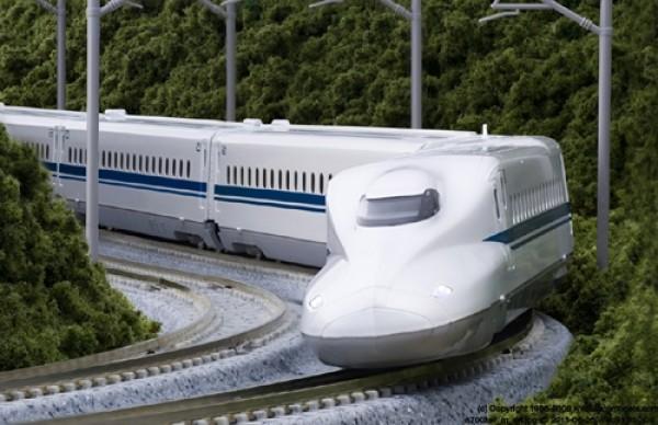 "N700 Shinkansen Bullet Train ""Nozomi"", 4-tlg. Grundeinheit, motorisiert"