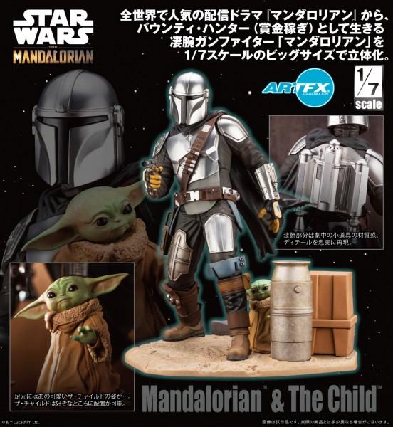 Star Wars The Mandalorian: Mandalorian & The Child 1/7 ARTFX PVC Statue