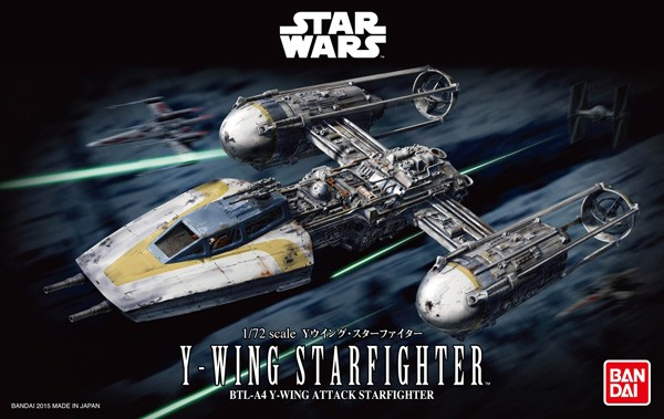 Star Wars: Y-Wing Starfighter 1/72 Model Kit