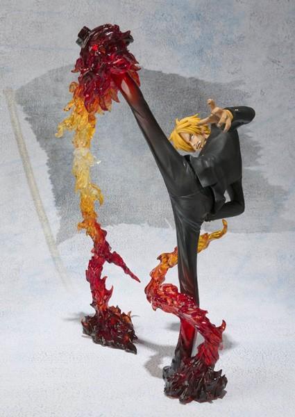 One Piece: Figuarts Zero Sanji Battle Ver. Diable Jambe Flambage Shot non Scale PVC Statue