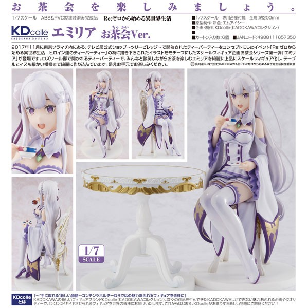 Re:ZERO -Starting Life in Another World: Emilia Tea Party Ver. 1/7 Scale PVC Statue
