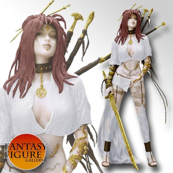 Fantasy Figure Gallery - Medusa's Gaze White Version PVC Statue