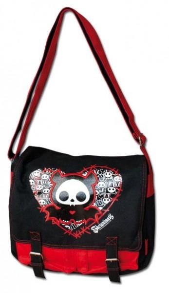 Skelanimals Messenger Bag Diego the Bat black/red