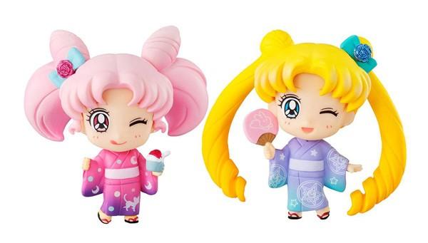 Sailor Moon: Petit Chara Doppelpack Sailor Moon & Chibiusa Kyotobeni Ver.