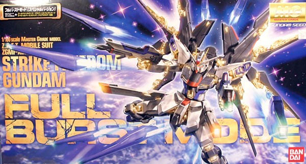 Gundam Seed Destiny - MG Strike Freedom Gundam Full Burst Mode 1/100