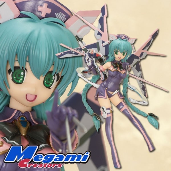 Megami Magazine Creators: School Swimsuit Mecha Nurse Girl Nana Dark Berry Mint ver. 1/8 Scale PVC S