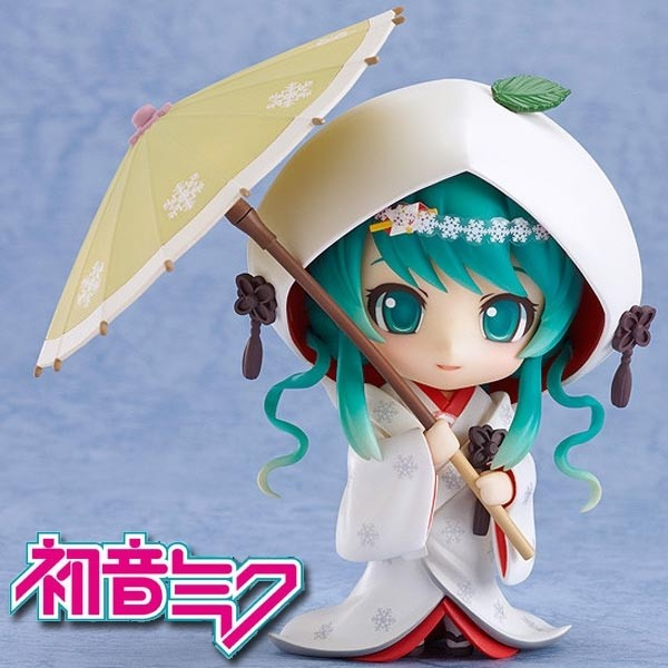 Vocaloid 2: Snow Miku Strawberry White Kimono Ver. - Nendoroid