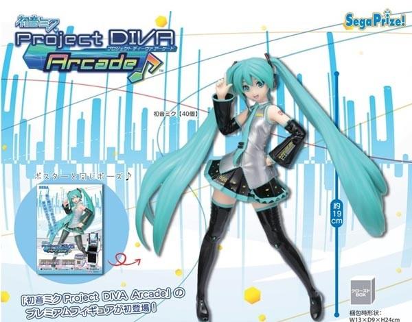 Vocaloid 2: CHARACTER VOCAL SERIES 01- Miku Hatsune Project Diva Arcade PM Figure