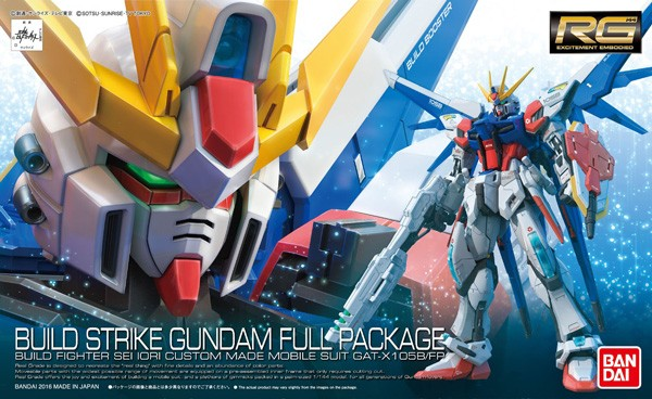 Gundam Build Fighters - RG GAT-X105B / FP Build Strike Gundam Full Package 1/144