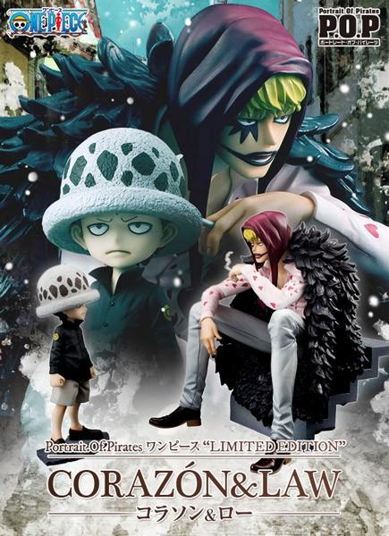 One Piece: P.O.P. Corazon & Law 1/8 Scale PVC Statue