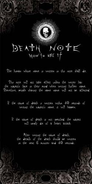 Death Note Handtuch - How to use it