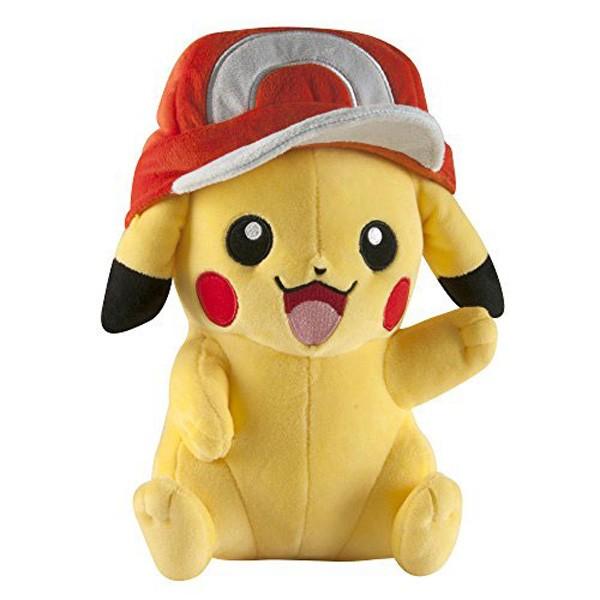 Pokemon: Pikachu mit Ashs Mütze Plüschfigur