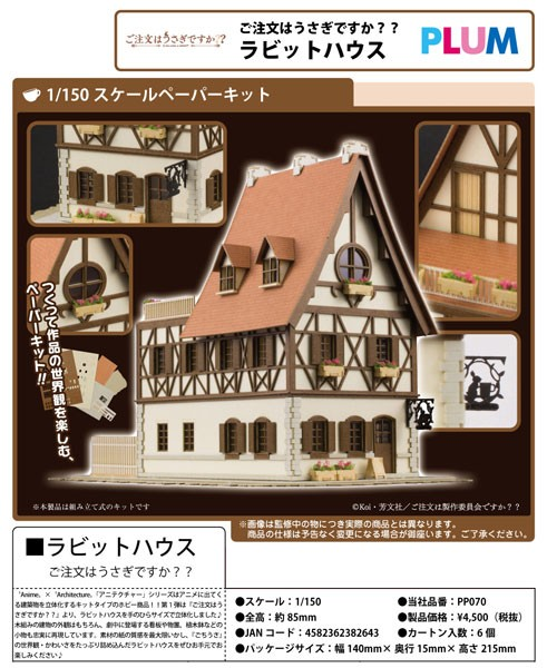 Is the Order a Rabbit?: Rabbit House 1/150 Anitecture Paper Model Kit