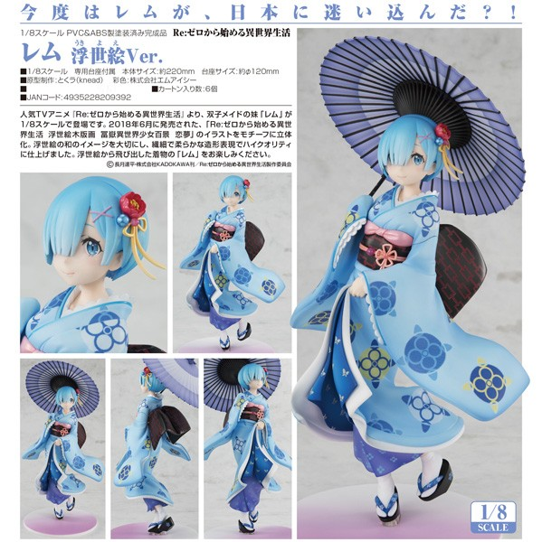 Re:ZERO -Starting Life in Another World: Rem Ukiyo-e Ver. 1/8 Scale PVC Statue