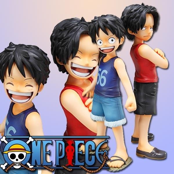 One Piece: P.O.P. Ruffy & Ace 1/8 Scale PVC Statue
