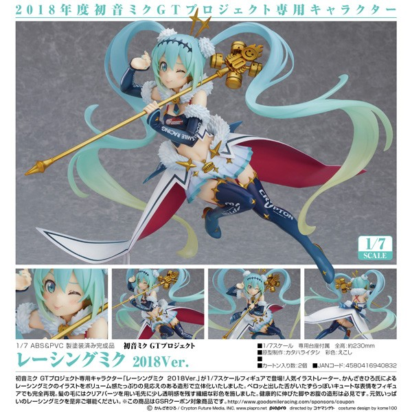 Vocaloid 2: Racing Miku GT Project 2018 Ver. 1/7 Scale PVC Statue