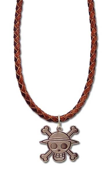 Necklace Pirate Skull Leather Band