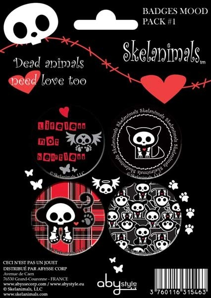 Skelanimals Button Set Mood Pack1