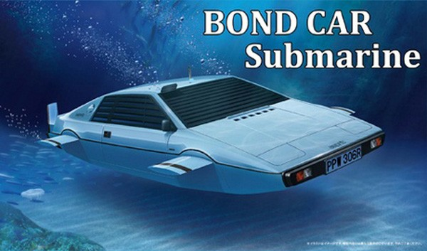 James Bond 007 The Spy Who Loved Me: Lotus Esprit S1 James Bond Car Submarine 1/24 Model Kit