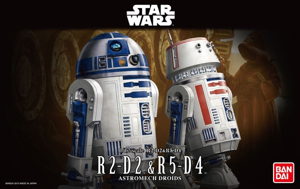 Star Wars: R2-D2 & R5-D4 1/12 Model Kit