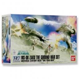 Gundam - HGUC MS-06 Zaku The Ground War Set 1/144