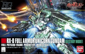 Gundam UC - HGUC Full Armor Unicorn Gundam Destroy Mode 1/144