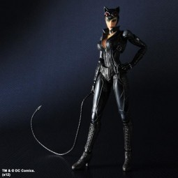 Batman Arkham City: Play Arts Kai Catwoman Actionfigur