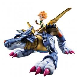 Digimon Adventure: Metal Garurumon & Ishida Yamato non Scale Scale PVC Statue