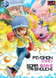 Digimon Adventure: Sora & Piyomon non Scale Scale PVC Statue