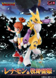 Digimon Tamers: Lenamon & Ruki non Scale Scale PVC Statue