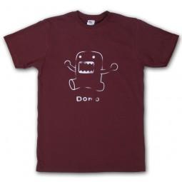 Domo-Kun: T-Shirt Line Art braun