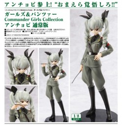 Girls und Panzer: Commander Girls Collection Anchovy 1/8 Scale PVC Statue