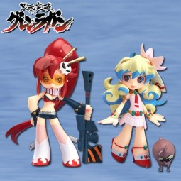 Tengen Toppa Gurren Lagann: Twin Pack - Yoko & Nia + Boota PSG Arrange ver. non Scale PVC Statue