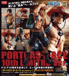 One Piece: P.O.P. NEO-DX Portgas D. Ace 10th Limited Ver. 1/8 Scale PVC Statue