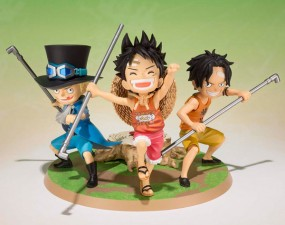 One Piece: Figuarts Zero Luffy & Ace & Sabo - A Promise of Brothers non Scale PVC Statue