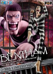 One Piece: P.O.P. Bentham (Bon Clay) 10th Limited Edition 1/8 Scale PVC Statue